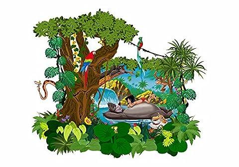 070 Wandtattoo Disney Das Dschungelbuch Mogli Balu Shir Khan Bagkira Kaa (1250 x 974 mm)