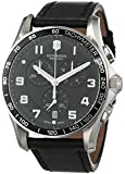 Victorinox Swiss Army Men's Quartz Watch with Black Dial Chronograph Display and Silver Stainless Steel Plated 241651