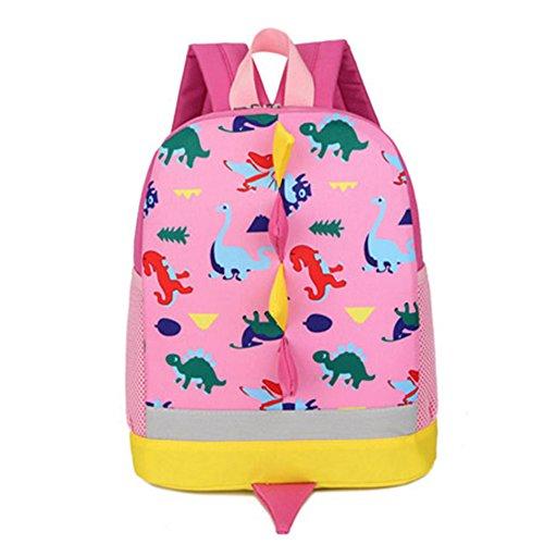 Kinder Rucksack Kleinkind Kinder Tasche f¨¹r Jungen M?dchen mit Sicherheitsgurt Leine Litte Schultasche Netter Dinosaurier Rucksack Design f¨¹r Kinder 2-6 Alter (Pink)