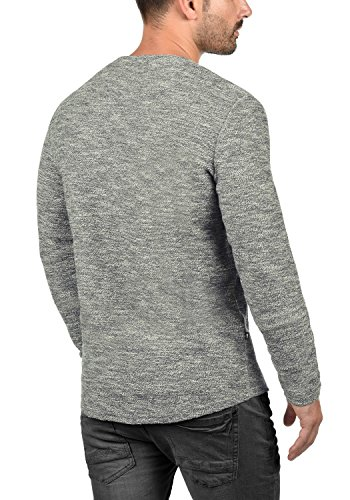 SOLID Gulliver Herren Sweatshirt Pullover Sweater mit Rundhals-Ausschnitt aus 100% Baumwolle Insignia Blue Melange (8991)