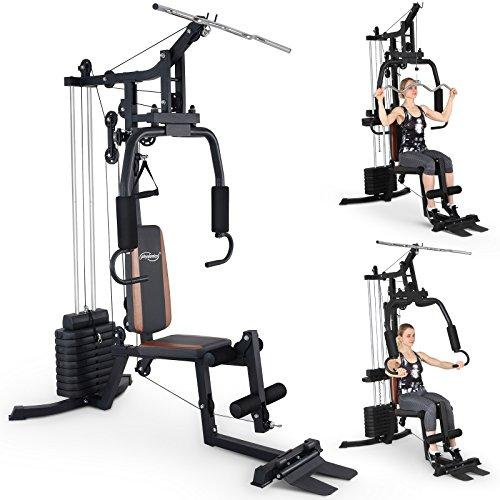 Physionics Fitnessstation Multistation Hantelbank Fitnessgerät Muskeltraining