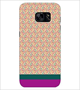 PrintDhaba Floral Pattern D-1883 Back Case Cover for SAMSUNG GALAXY S7 (Multi-Coloured)