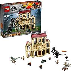 Lego Jurassic World Set Mattoncini Attacco dell'indoraptor al Lockwood Estate, 75930
