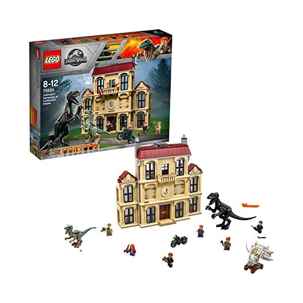 LEGO Jurassic World Attacco dell'indoraptor al Lockwood Estate, Multicolore, 75930 1 spesavip