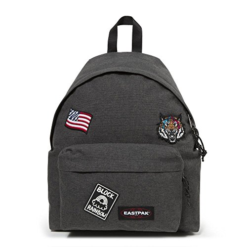 Eastpak PADDED PAK'R Zaino, 24 L, Black Patched (Multicolore)