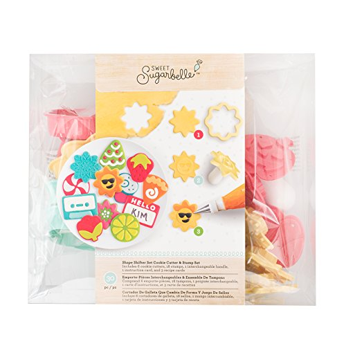 American Crafts Heat Wave Glittered Paper Flowers 24/Pkg-Beach House (Mouse-mini-cutter Mickey)
