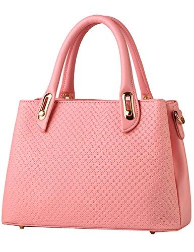 Menschwear Damen Handtasche Marken Handtaschen Elegant Taschen Shopper Reissverschluss Frauen Handtaschen Rose Rosa