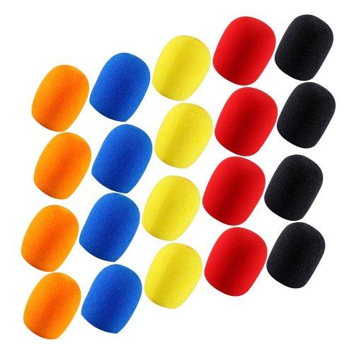 4 Kmise juego de 5 piezas micrófono espuma protectores para karaoke DJ de gran duración