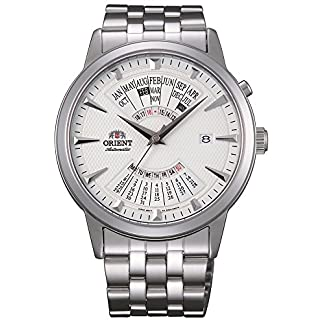 Orient Reloj Analógico para Hombre de Automático con Correa en Acero Inoxidable FEU0A003WH