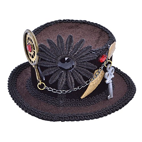 Bristol Novelty bh613Steampunk Top Mini Hat, braun, one size (Tiny Hat Top)