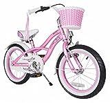 Bikestar Premium-Kinderfahrrad, 40,6cm (16Zoll), für sichere und sorgenfreie Spielfreude ab 4 Jahren ★ Cruiser Deluxe Ausführung ★ Rosa