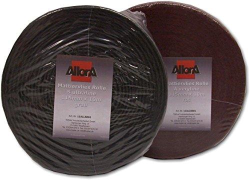 Preisvergleich Produktbild AllorA Mattierungsvlies Schleifvlies Rolle grau 115 mm x 10 m Korn 1500