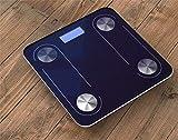 BEIQIHHY Balance Intelligente de Graisse corporelle Bluetooth, Balance électronique mesurant la Graisse santé échelle Humaine LED Balance de Salle de Bain numérique,Blue...