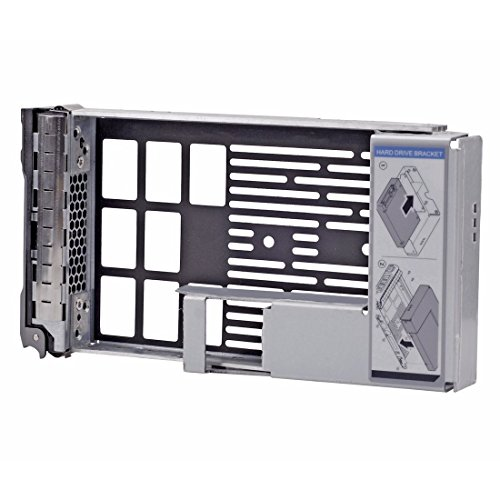 cisno 8,9 cm SAS/SATA Festplatte Tray Caddy mit 6,3 cm Adapter für Dell PowerEdge R710 T610 R320 R420 R720 T320 T420 T620 Server F238 F (Tray Sas-festplatte)