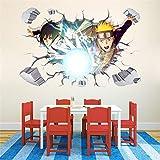Naruto Japanese Amine Bande Dessinée 3D Enfants Chambre Stickers Muraux Décor Vinyl Decal 60 * 90 cm