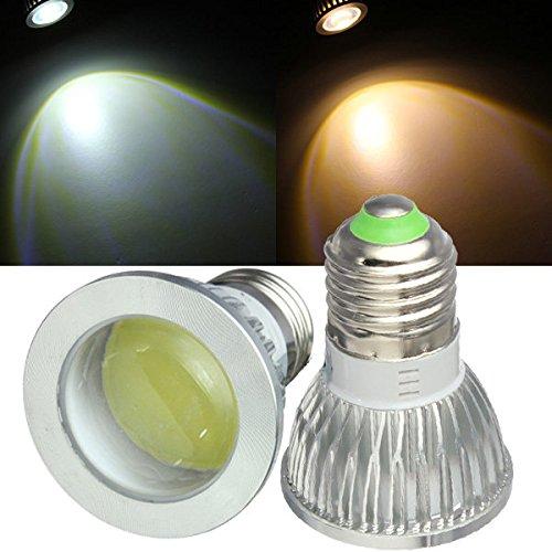 PhilMat E27 LED Glühbirnen 3W COB AC 85-265V wärmen weißes / Weiß-Spot-Licht - Wa Spot
