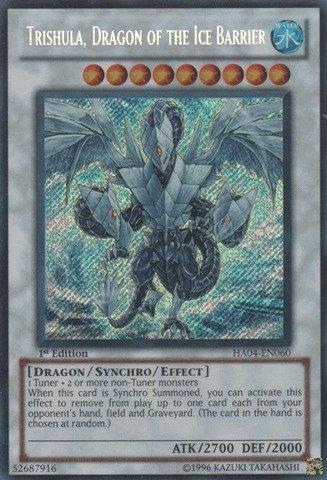 Preisvergleich Produktbild Yu-Gi-Oh.–Trishula, Drache der Ice Barriere (ha04-en060)–Hidden Arsenal 4: Trishulas Triumph–Unlimited Edition–Secret Rare von Yu-Gi-Oh.