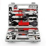 SunbuyHouse professionale bicicletta strumenti di manutenzione 48pezzi kit di attrezzi di riparazione bicicletta multifunzionale con scatola per tutti i tipi di bici