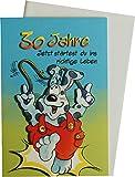 Glückwunschkarte bewegliche Ausstattung 30. Geburtstag 50-132/0