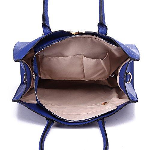 LeahWard® Damen Groß Mode Essener Berühmtheit Tragetaschen Damen Qualität Schnell verkaufend Modisch Handtaschen CWS00319B CWS00319C CWS00319 CWS00319 Marine
