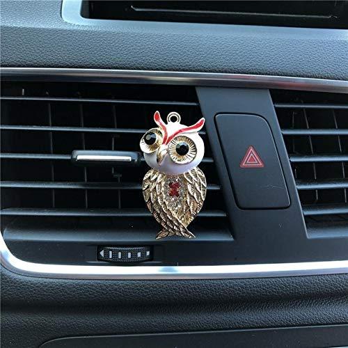 FASHLADY Accessori automobilistici Profumo Gufo Metallo modellazione Lady Auto Styling Deodorante Profumo Auto Aria condizionata Ornamenti: A