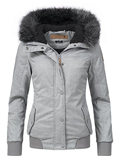 Eight2Nine Damen Jacke Winterjacke 44278AEN Grau Gr. M