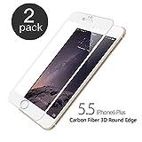 iPhone 6 Plus/6S Plus Panzerglas, aiMaKE 2 Stück Ultra-klar Panzerglas Schutzfolie für iPhone 6/6s Plus 5,5 Zoll (nur 0,25 mm Weiß )
