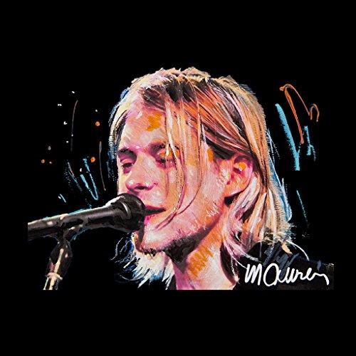 Sidney Maurer Kurt Cobain Singing Official Women's Vest Black
