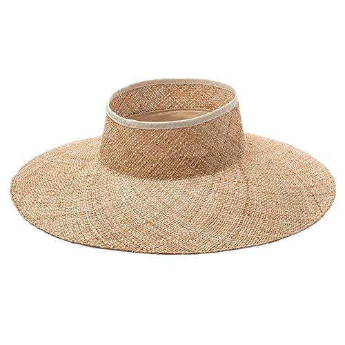 HBHUBO Strohhut,Leerer Oberster Großer Rand Natürlicher Reise Sonnenschutz Sonnenschutz-Strand Strohhut des Strohhutes Im Freien Safari Panama