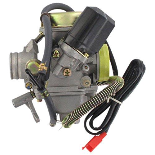 Xfight-Parts Vergaser 24mm mit E-Choke komplett Std. CVK(PD24J)4Takt 125/180ccm 152QMI GY6