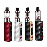 80W E Zigarette Starter Set, 1600mAh Vape Pen Kit, Verdampferkopf Coil 0,35ohm 2,5ml Ezigarette Verdampfer Kopf Tank, Regelbare Watt LED Bildschirm 0,0mg Nikotin (Schwarz)