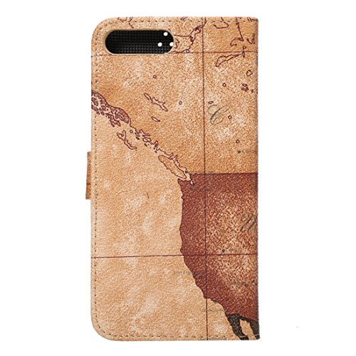 Hülle für iPhone 7 plus , Schutzhülle Für iPhone 7 Plus Cowboy Tuch Textur Magnetische Adsorption Horizontale Flip Leder Tasche mit Card Slot & Holder & Wallet ,hülle für iPhone 7 plus , case for ipho Brown