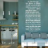 Stickers muraux, Stickers muraux, Tatouages   muraux, Affiches murales, Papier peint, Dans cette maison, nous faisons vinyle Harry Potter Citation Chambre Décor Salon Décoration Art Affiche 42x82CM