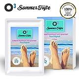 O³ Sommer Füße Fußmaske zur Hornhautentfernung // 3 Paar Hornhaut Socken // inkl. Deutscher Gebrauchsanweisung // Foot Peeling Mask