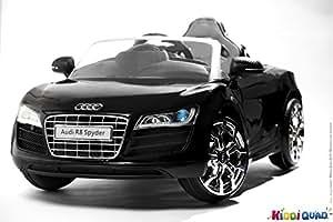 audi r8 spydster noir version turbo voiture electrique enfant 12 volts 2 moteurs. Black Bedroom Furniture Sets. Home Design Ideas