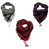 Anuze Fashions New Styles Scarves Arab Shemagh Arafat Scarf For Men's Pack Of 3