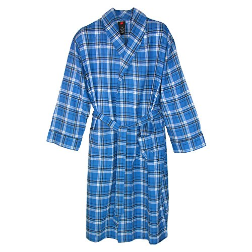 hanes-mens-cotton-flannel-dressing-gown-with-pockets-xl-2xl-blue