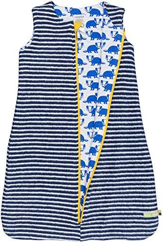 loud + proud Unisex Baby Schlafsack Wendeschlafsack, Blau (Midnight/Natural Mi/Na), 68 (Herstellergröße: 62/68)