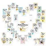 40x Meilensteinkarten Baby | Erinnerungskarten | Für Junge & Mädchen | Ideal als Geschenkset zur Schwangerschaft, Taufe, Babyparty & Geburt | Erinnerungskarten in 1A Qualität von Tillmann's