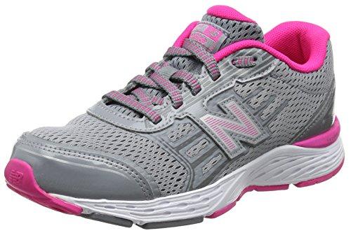 New balance kj680v5y, scarpe da corsa, unisex – bambini, multicolore (grey/pink), 33 eu