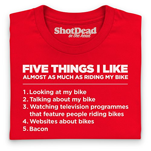 Five Things I Like - Bike T-Shirt, Herren Rot