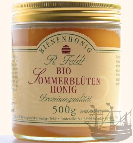 Sommerblüten BIO Honig, gelb-cremig bis flüssig, mild aromatisch, 500g