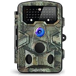 APEMAN Caméra de Chasse Surveillance 12MP 1080P HD Etanche Infrarouge 120°Grand Angle Déclenchement Jusqu'à 20m Caméra de Jeu