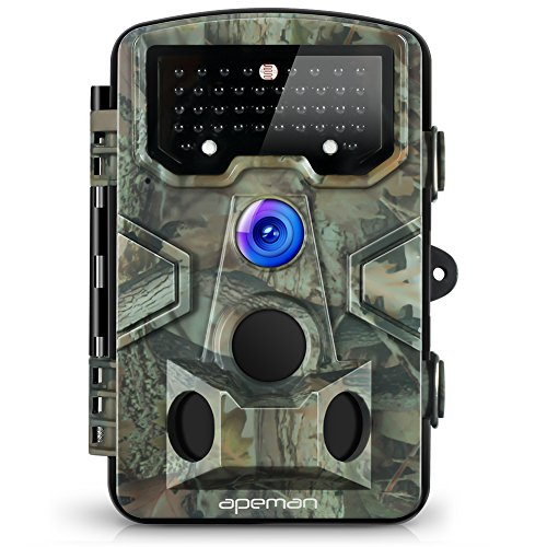 APEMAN Trail Camera 12MP 1080P Great Waterproof Hunting & Wildlife Camera with 120° Wide ...