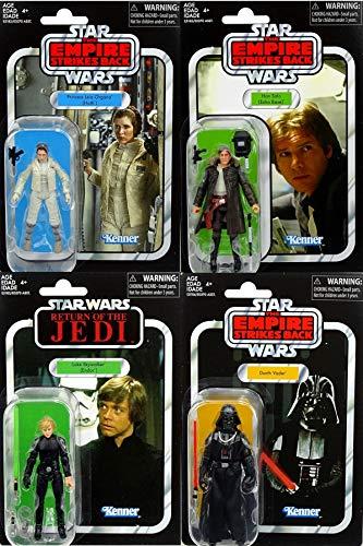 Hasbro Star Wars Bundle Princess Leia, Han Solo, Luke Skywalker & Darth Vader The Vintage Collection