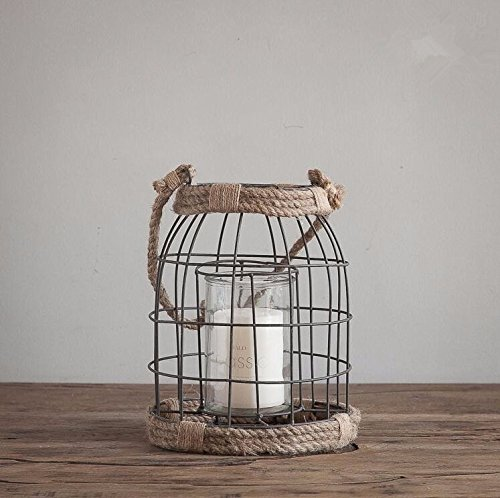 PEIWENIN-Amerikanischen nostalgischen Retro Kerzenhalter Eisen Kerzenständer Heimdekorationen handgefertigte Handwerk Esstisch Kerzenständer Dekoration, 22 * ??27cm -