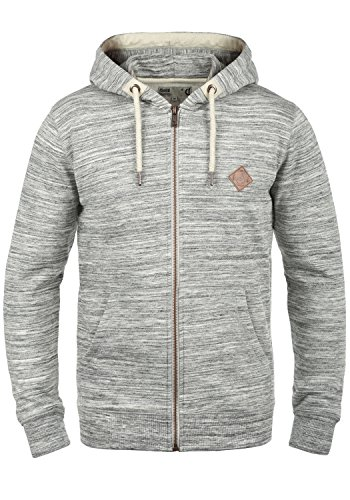 !Solid Craig Herren Sweatjacke Kapuzenjacke Hoodie Mit Kapuze Und Reißverschluss, Größe:L, Farbe:Light Grey Melange (8242)