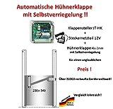 JOSTechnik Automatische Hühnerklappe JT-HK + Klappe (M) mit Selbstverriegelung - Direkt vom Hersteller