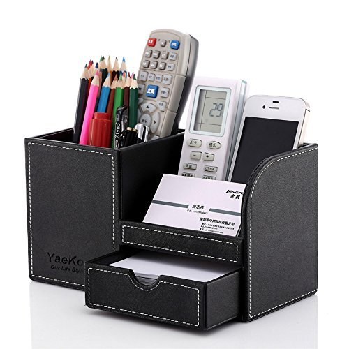 Full Range Of Specifications And Sizes And Great Variety Of Designs And Colors Multifunctional Office Desktop Decor Storage Box Leather Stationery Organizer Pen Pencils Remote Control Mobile Phone Holder Famous For High Quality Raw Materials