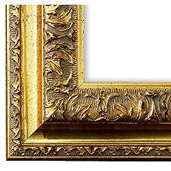Online Galerie Bingold Bilderrahmen Rom Gold 6,5 - WRP - 40 x 50 cm - wählen Sie aus über 500 Varianten - alle Größen - Landhaus, Antik, Barock - Fotorahmen Urkundenrahmen Posterrahmen